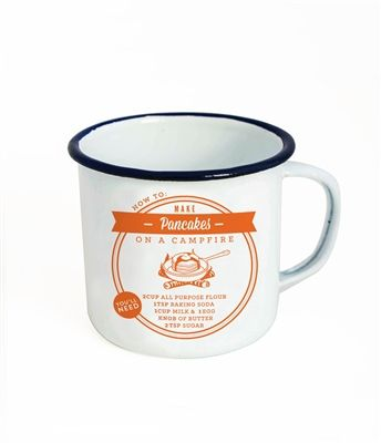 TMOD Enamel Tea or Coffee Mug has unique design with a pancake recipe. A great take on the vintage classical enamel camping cookware. We think these are a great gift for mum that no one else will buy! There are 8 different designs available.