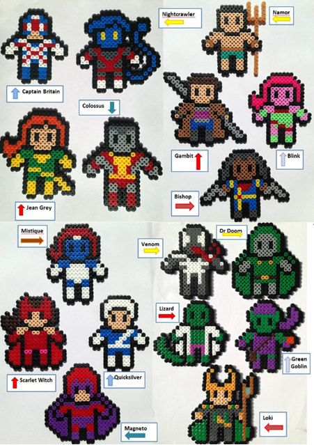 Marvel Hama Perler Bead Figures by HouseOfVicness