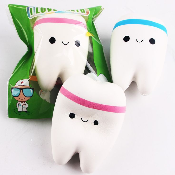 Super Cute Jumbo Healthy Smile Tooth Squishy Mint Scented CUTIECREATIVE Phone Strap Soft Kawii Squishes collection ibloom Gift