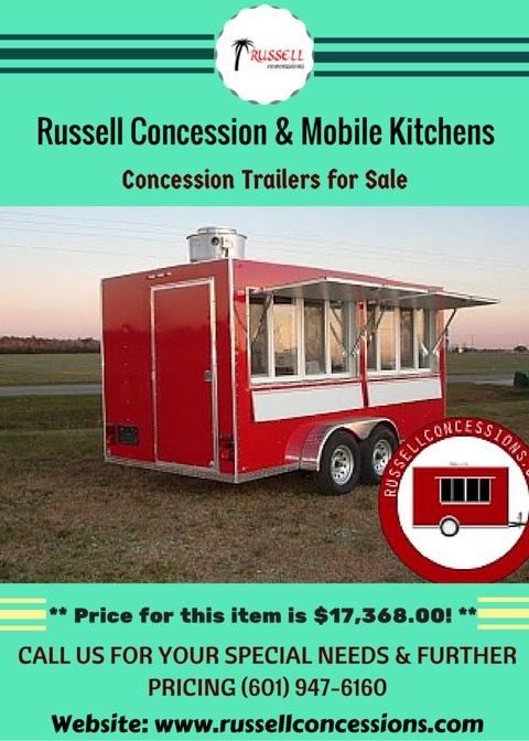 Food Concession Trailers for Sale:- We specialize in all kinds of food concession trailers, BBQ smoker trailer, catering trailers and more! For more information, Call us at (601) 947-6160 or visit our website.