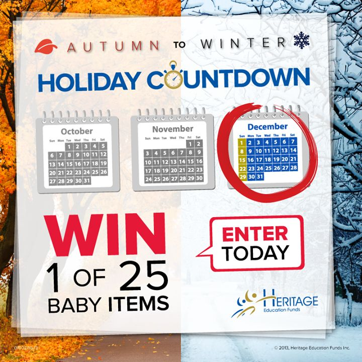 Win 1 of 25 Luxury Baby Items in the #HeritageHoliday contest! Enter for a chance to win luxury baby items, including a Bugaboo stroller, cribs, car seats, baby monitors, Visa gift cards and more. Draw date is December 1, 2013. Enter Now!