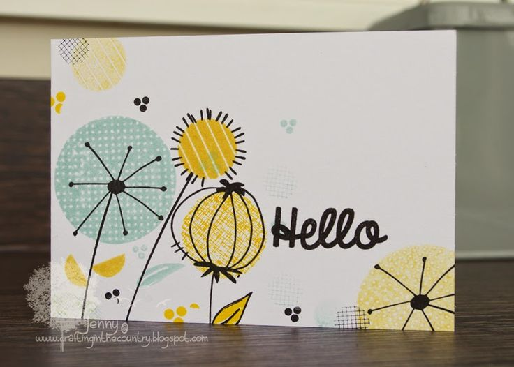 Crafting in the Country: Off the edge!!  - Love how Jenny used the three little dash lines. Fab color combo!