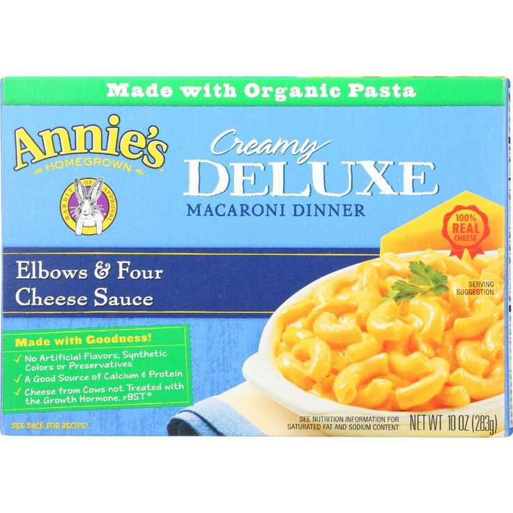 Annies Homegrown Macaroni Dinner Creamy Deluxe Elbows And Four Cheese Sauce 10 Oz