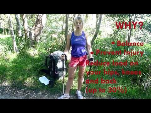 how to use trekking poles for walking