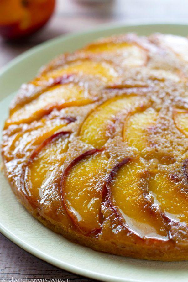 Summer Peach Upside-Down Coffee Cake | Recipe | Peach cake, Summer and ...