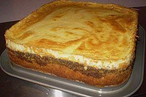 Mohnkuchen mit Schmand und Vanillepudding 12