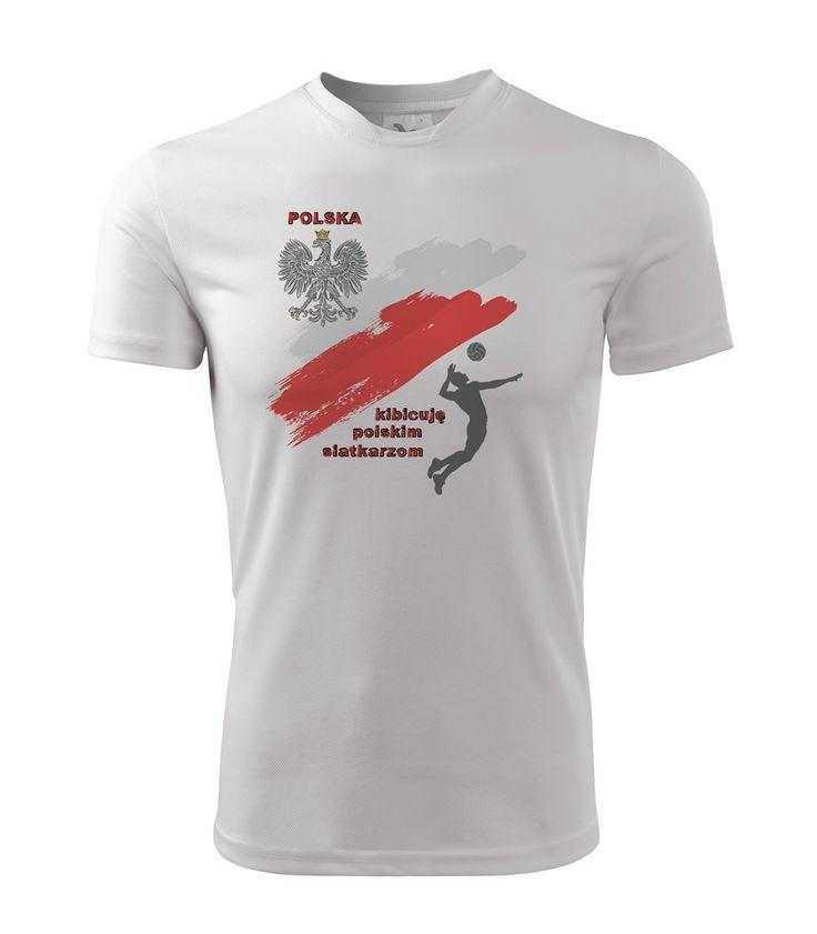 Koszulka kibica. Bądź gotowy na Mistrzostwa Świata w siatkówce! Z tyłu koszulki można umieścić numer, swoje imię bądź nazwisko, lub ulubionego siatkarza! :)