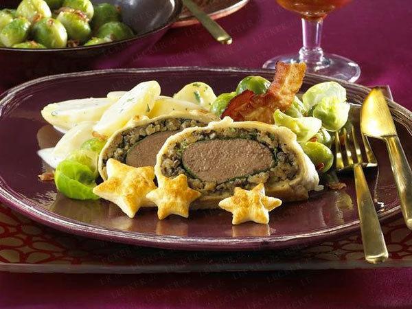 Weihnachtsessen mit Wild - Reh, Hirsch & Wildschwein - rehruecken-blaetterteig14  Rezept