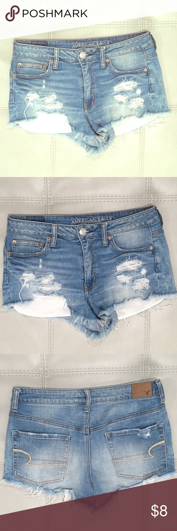 American Eagle 🦅 Jean Shorts! M 8 Denim Cut-offs EUC. From a smoke-free, pet-free, meticulously clean home. ;) Will be listing lots more fabulous items at fab prices..please feel free to check them out, bundle discounts available! Thanks for looking and have a great day! :) American Eagle Outfitters Shorts Jean Shorts