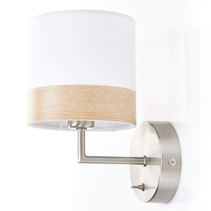 Globo Textil Wandleuchte /'Libba/' Wandlampe Textil Modern Wohnzimmerleuchte A++
