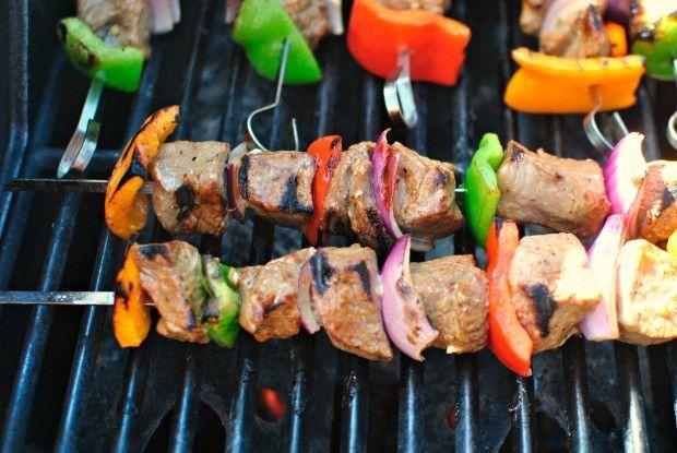 Marinated steak kebabs   Food Stuffs - Entrees   Pinterest