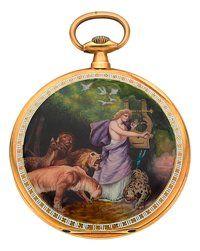 Tavannes Gold & amp;  Smalt kapesní hodinky, circa 1910