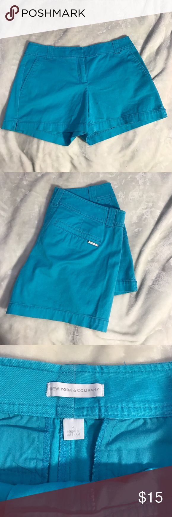 New York & Company blue khaki shorts Like new condition khaki shorts from New York and company. Perfect for spring and summer! New York & Company Shorts