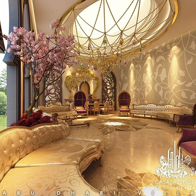 Exquisite luxury majlis interior design aesthetic for Luxury classic interior design