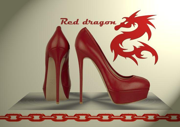 Red Dragon Heels