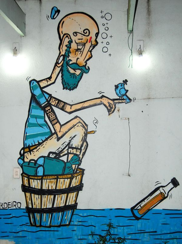 Street Artist: Sergio Cordeiro - Sao Paulo Metro, Brazil