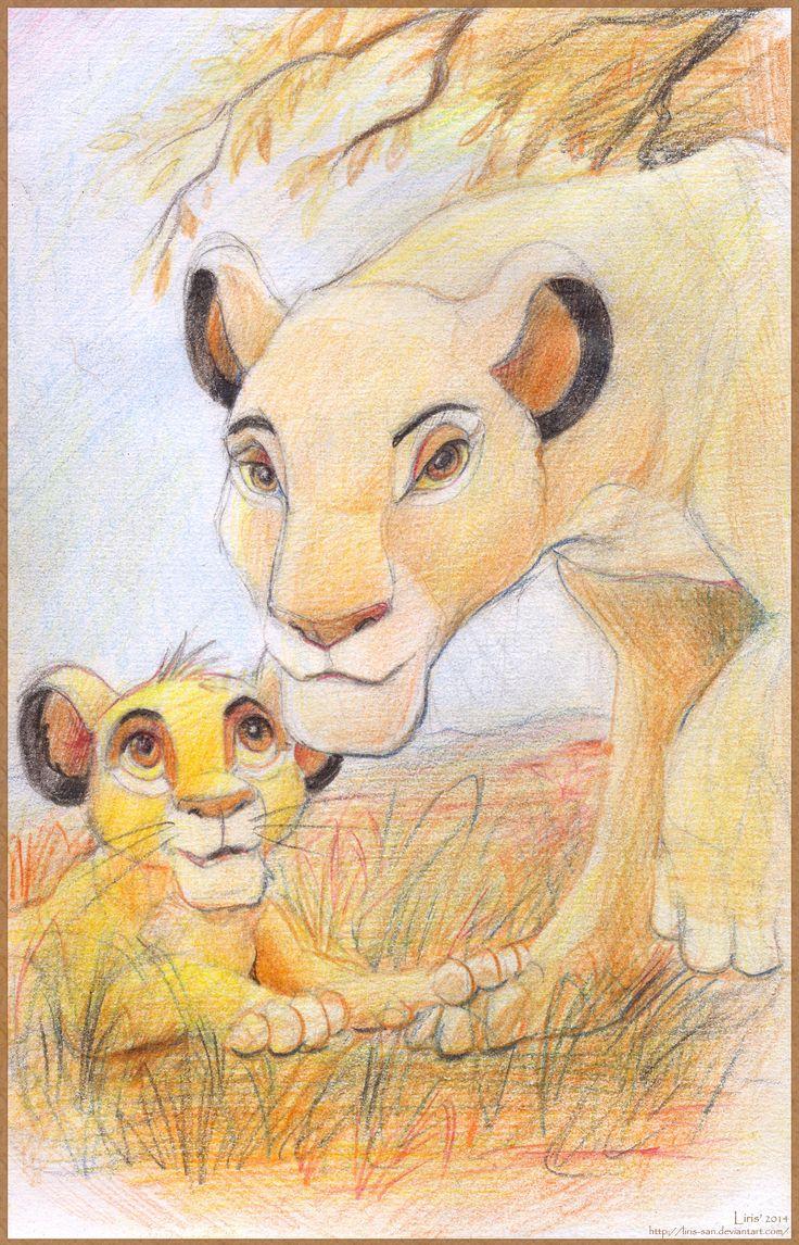 Sarabi and Simba. The Lion King.