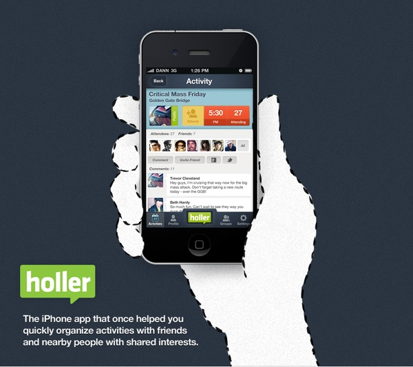 Holler iPhone app