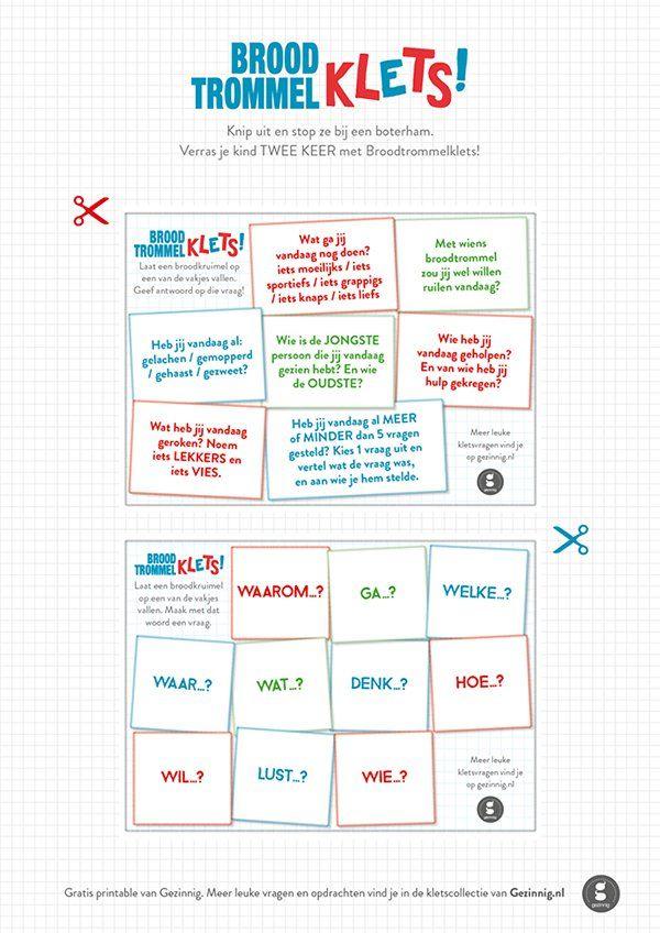 Download gratis dit briefje met broodtrommelklets! van Gezinnig voor in de lunchtrommel van je kind. Dat wordt een gezellig Klets-feestje!