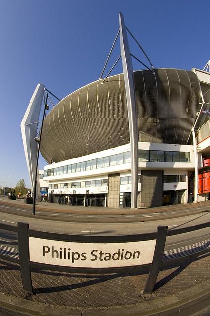 Hoek van het Philips stadion (Noord Oost zijde)
