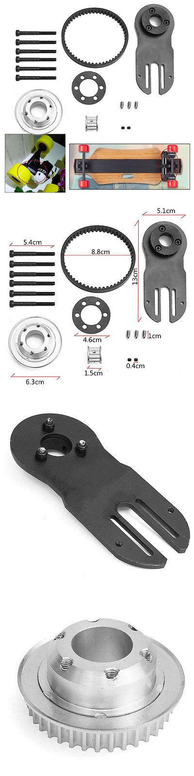 Other Skateboard Parts 159076: Diy Electric Skateboard Parts Pulleys And Motor Mount Kit For 83/90/97Mm Wheels -> BUY IT NOW ONLY: $52.99 on eBay!