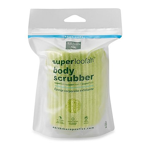 The Super Loofah Body Scrubber is excellent for gently buffing away dead skin cells, opening clogged pores, and cleansing the skin of impurities.