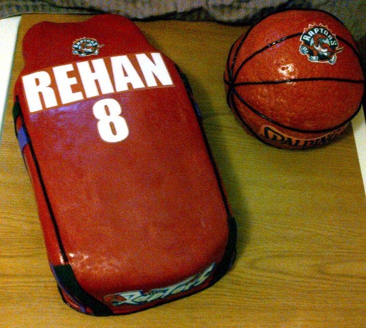 Basketball Shirt Cake and Basketball Cake