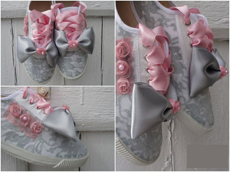 Painted sneakers - wedding theme