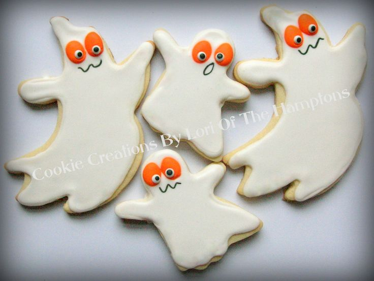 ghost halloween decorated sugar cookies - Halloween Cookies Decorating Ideas