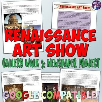 Renaissance Art Show And Newspaper Project In 2021 Renaissance Art Students Of History World History Lessons Renaissance worksheet answer key