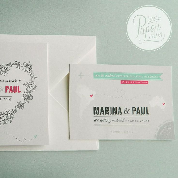 Square book invite with floral love heart design and a 3mm gross grain aqua bow