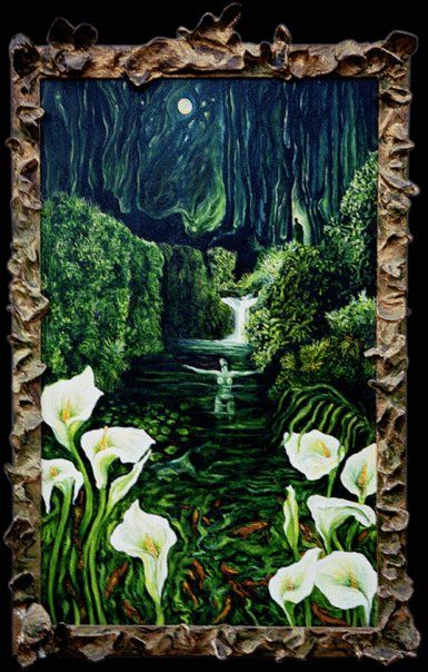 Forest Pool (Oil painting by Elaine Matthews Venter)