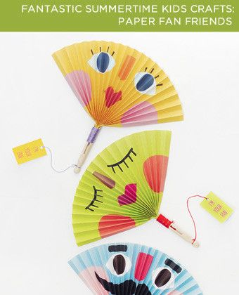 Homemade paper fans printable craft. Perfect for this crazy hot summer!