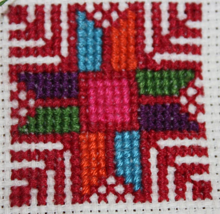 Qabbeh Disc- Gaza area Qabbeh is the name for the chest panel embroidery