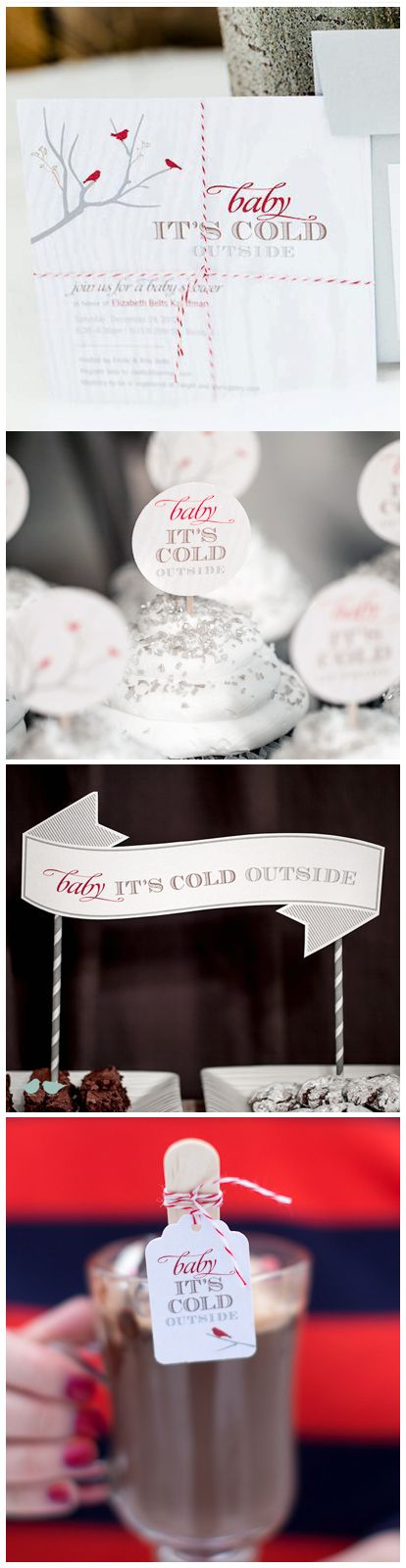Baby Its Cold Outside Baby Shower Collection by I Heart to Party