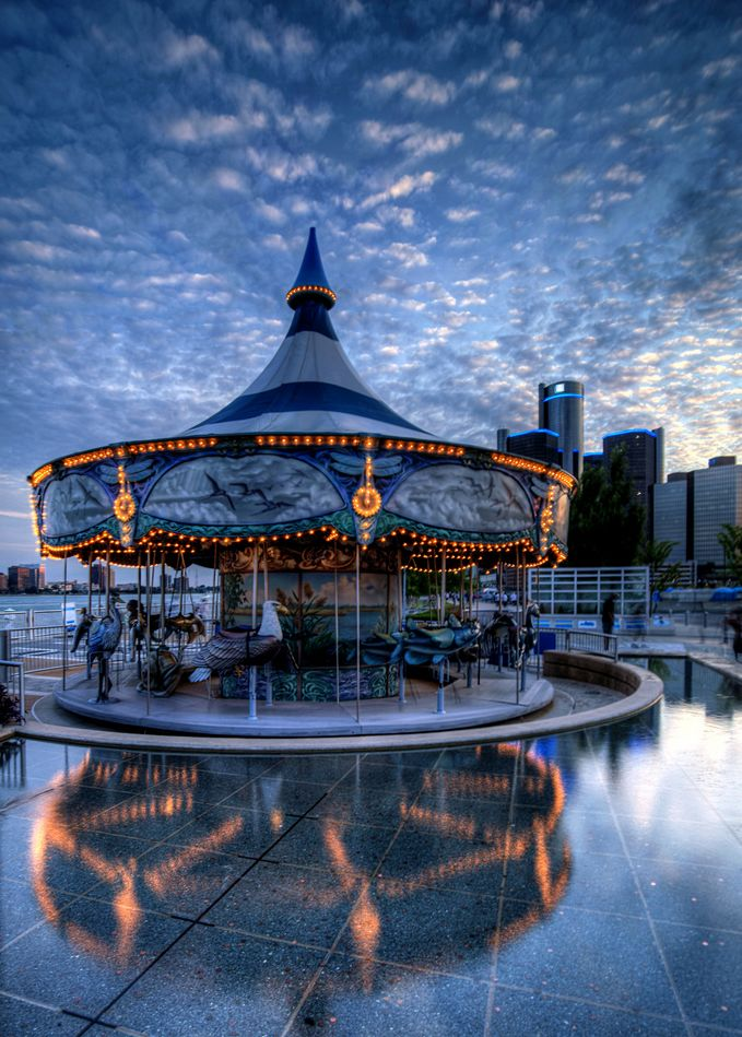 Detroit Riverwalk Carousel.