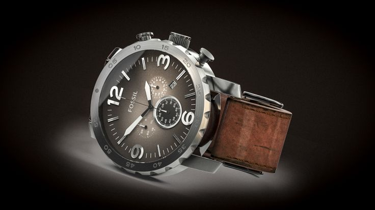 Fossil Nate JR1424. Modeled in NX, rendered in KeyShot