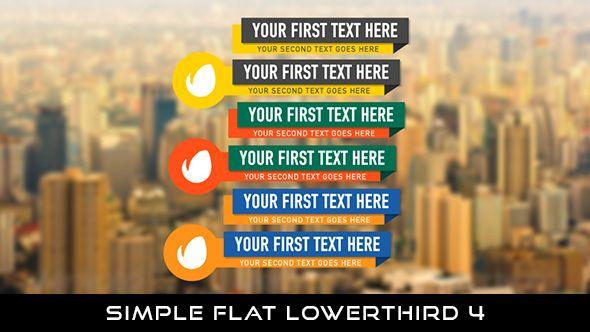 Flat Simple Lowerthird 4  6 Lowerthirds | Full HD 1920×1080 | Quicktime PNG alpha codec | Each 10 seconds.  If you want to change the color, you can change with hue saturation.  #envato #videohive #motiongraphic #aftereffects #animatedlowerthird #broadcast #caption #color #corporate #elegant #flat #modern #presentation #professional #simple #television #text #title #youtube