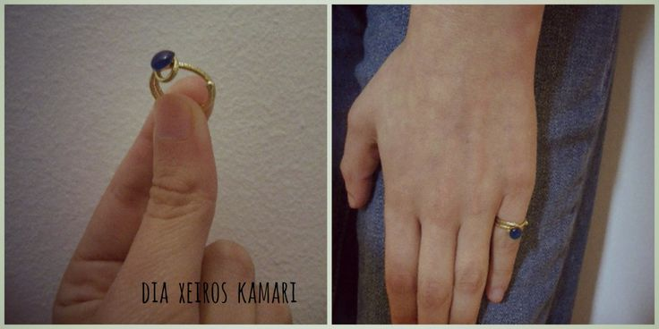 #chevalier #ring #blue #summer #handmade #Greece #dia_xeiros_kamari