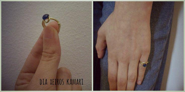 #chevalier #ring #blue #summer #handmade #Greece #dia_xeiros_kamari