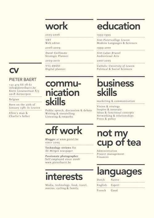 25 best Cv images on Pinterest Resume ideas, Resume layout and - fashion design resume