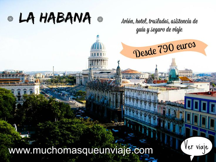 #Viaja a La Habana desde 790 euros!!!!! Para ver más información: http://muchomasqueunviaje.com/pdf/viaje-a-la-habana.pdf  Para pedir presupuesto o más información puedes hacerlo enviando un mail a info@muchomasqueunviaje.com o llamando al 93 664 59 17  También puedes ver más ofertas entrando a www.muchomasqueunviaje.com