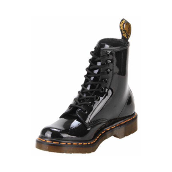 Dr Martens R11821011 8 Eyelet 1460 Black Patent Lamper Via Polyvore Boots Socks And Sandals