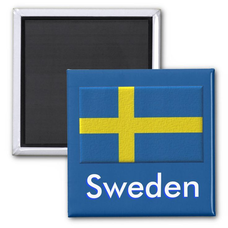 Magnet With Flag Of Sweden Zazzle Com Custom Magnets Swedish Flag Sweden Flag