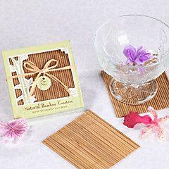 natural de bambu eco-friendly favores montanha-russa (conjunto de 4)