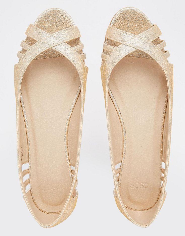 Image 4 ofASOS LINDY Peep Toe Ballet Flats