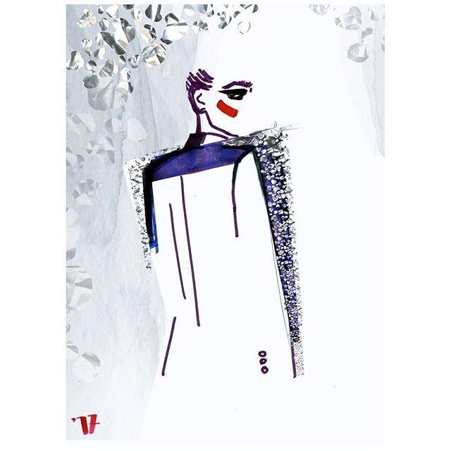Autumn weather and this shining and brilliant collection is a perfect combination.  #fashionillustration #ysl @saintlaurent #fw2017  #fallwinter #shinebrighter #fashionillustrator #illustrationlady #fashioncollage #yvessaintlaurent #antonyvaccarello #artandfashion #runway #fashionshow #illustrationgram  #ilustracjamody #rysunekzurnalowy #polskailustracja #karolinaniedzielska