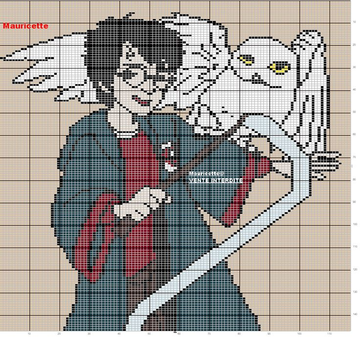Harry Potter in beads