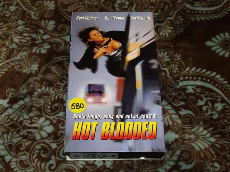 Hot Blooded (VHS, 1998) Rare 1st MTI/Bedford! Kari Wuhrer! *OOP ON ALL FORMATS*