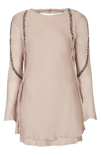 embellished chiffon tunic top / topshop @Nordstrom